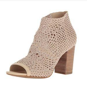 Jessica Simpson crochet open toe booties